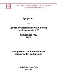 Prof. Dr. Heinz-Jürgen Pezzer Nettoprinzip - Deutsches ...