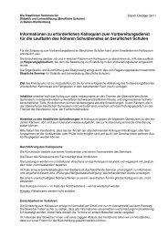 Informationen zu erforderlichen Kolloquien zum ... - Kultusportal
