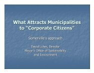 """What Attracts Municipalities to """"Corporate Citizens"""""""