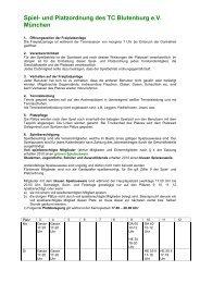 Spiel- und PlatzordnungV1.0 - TC Blutenburg