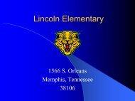 Lincoln Elementary - Memphis City Schools