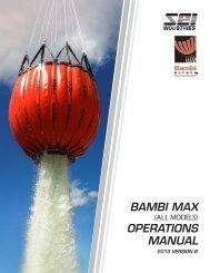 BAMBI MAX OPERATIONS MANUAL - SEI Industries Ltd.