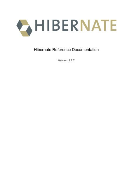 Hibernate Documentation Pdf