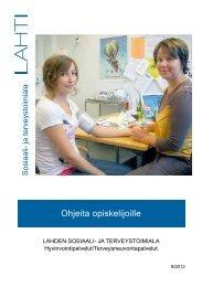 Ohjeita opiskelijoille -opas - Lahti