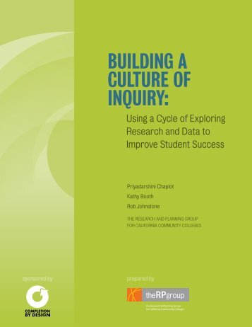 Building a culture of inquiry: - The RP Group