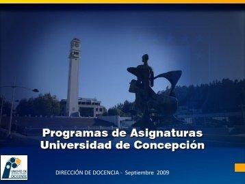 Descargar - Dirección de Docencia - Universidad de Concepción