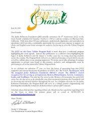 June 16, 2010 Dear Friends: The Jackie Robinson Foundation (JRF ...