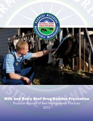 2012 Milk and Dairy Beef Drug Residue Prevention ... - uw milk quality
