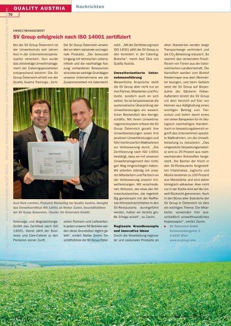 QZ_2011_07_Quality-Austria-Juli-2011 - QZ-online.de