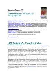 Map Analysis Introduction: GIS Software's Changing ... - Innovative GIS