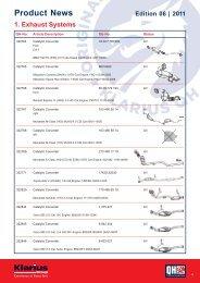 Product News Edition 06 | 2011 - Quinton Hazell
