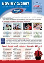 Noviny DUEL 3/2007 - Ježek software