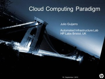 Cloud Computing Paradigm - ANTS