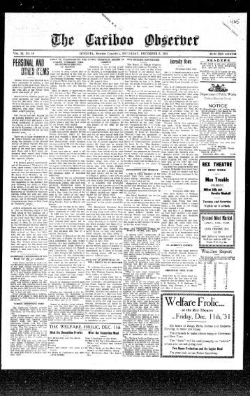 19311205_Cariboo Observer.pdf - the Quesnel &  District Museum ...