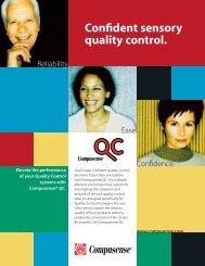 Confident sensory quality control. - Compusense Inc.