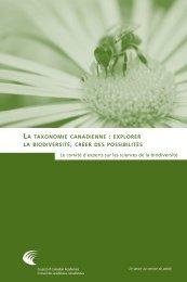 la taxonomie canadienne : explorer la biodiversité , créer des