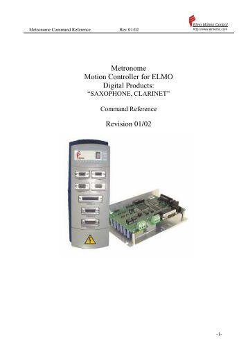 Publication 890023 01 02 torrent engineering equipment Elmo motor controller