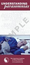 parasomnias - American Academy of Sleep Medicine