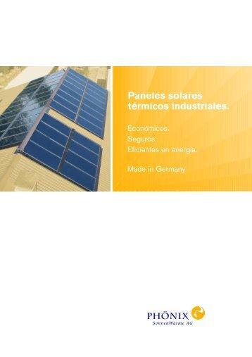 Paneles solares térmicos industriales.