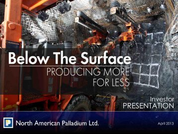 PRESENTATION - North American Palladium