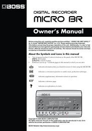 Owner's Manual (MICRO-BR_OM.pdf) - Roland
