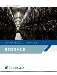 Cirrascale Storage Solutions Guide