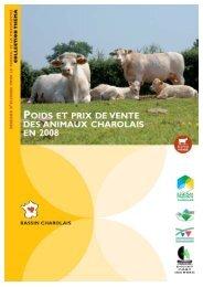 Poids et prix de vente des animaux charolais en 2008 - Chambre d ...