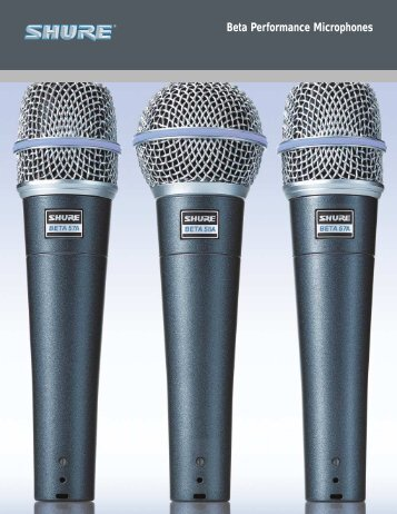 Beta Performance Microphones - Now Sound