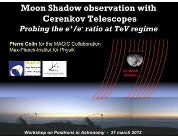 Moon shadow observed - Cesr