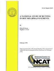 a national study of rutting in hot mix (hma) - Auburn University
