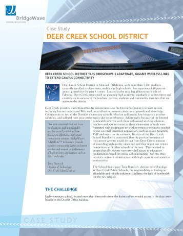 CASE STUDY Deer Creek SChool DiStriCt - Pexx, Inc.