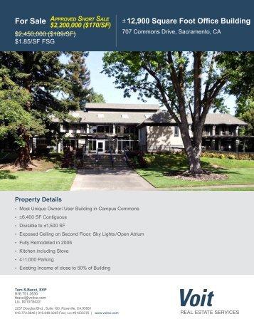 Commons Drive Brochure - Voit Real Estate Services