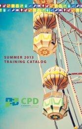 summer 2013 TrAINING CATALOG - Connecticut Association of ...