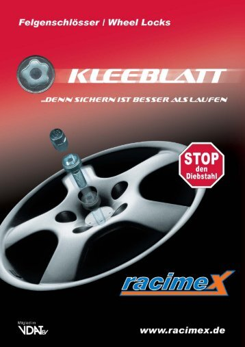 Anwendungsliste - Racimex Vertriebs GmbH
