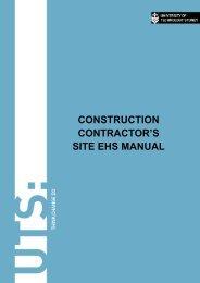 construction contractor's site ehs manual - Facilities Management ...