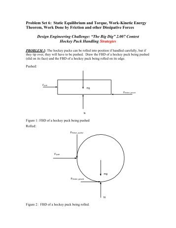 Problem Set 6: Static Equilibrium and Torque, Work-Kinetic Energy ...