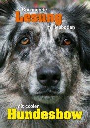 Spannende Lesung im Heuboden mit cooler Hundeshow - Amaro