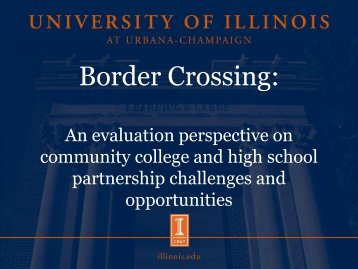 Border Crossing - OCCRL - University of Illinois at Urbana-Champaign
