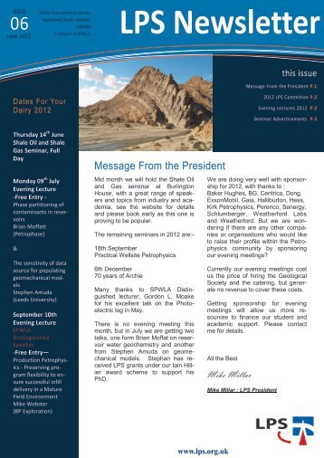 Download June 2012 Newsletter - London Petrophysical Society