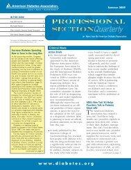 Summer - American Diabetes Association