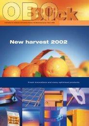 OBO Blick 1/2002 - New harvest 2002 - OBO Bettermann