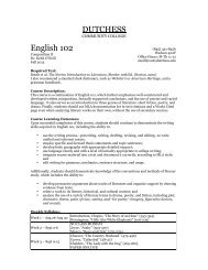 Eng 1o2 – Introduction to Literature - Faculty Websites - Dutchess ...