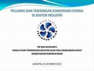 peluang dan tantangan konservasi energi di sektor industri - IESR