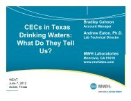 PPCPs in Texas Drinking Waters