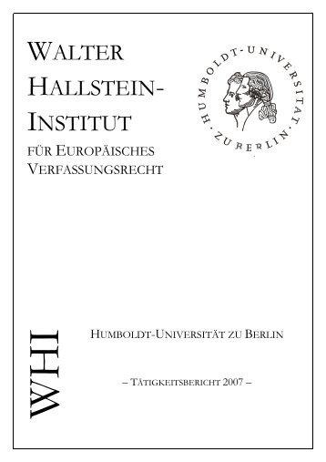 WALTER HALLSTEIN- INSTITUT - WHI-Berlin