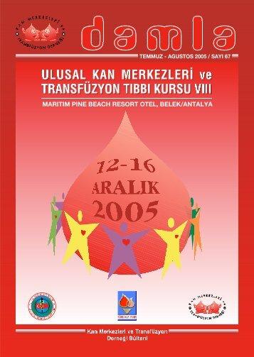 temmuz - agustos 2005 - Kan Merkezleri ve Transfüzyon Derneği