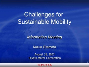 [PDF] Challenges for Sustainable Mobility - Toyota