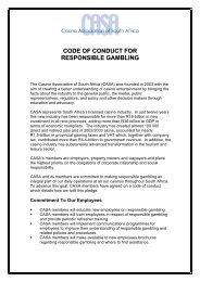CODE OF CONDUCT FOR RESPONSIBLE GAMBLING - Jogo Remoto