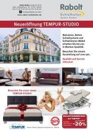 Neueröffnung TEMPUR-STUDIO - Rabolt Schlafkultur