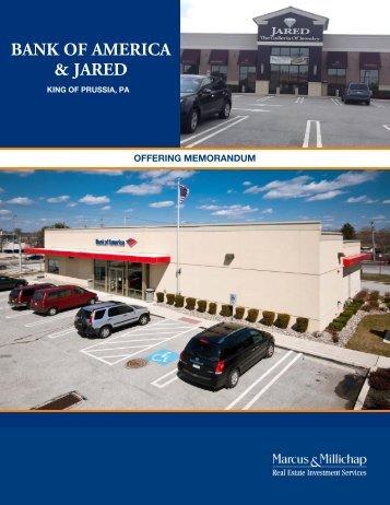 bank of america & jared - Property Line